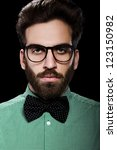 handsome male in glasses and... | Shutterstock . vector #123150982