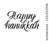 vector happy hanukkah hand... | Shutterstock .eps vector #1231522948