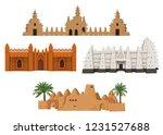 set of buildings african... | Shutterstock .eps vector #1231527688
