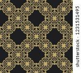 seamless decorative vector... | Shutterstock .eps vector #1231531495