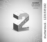 abstract number two three... | Shutterstock .eps vector #1231535182