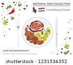 luxembourg cuisine. european... | Shutterstock .eps vector #1231536352