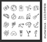 simple set of travel icons.... | Shutterstock .eps vector #1231549858