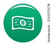 banknote icon. simple... | Shutterstock .eps vector #1231575178