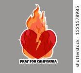 sticker. wildfires  broken...   Shutterstock .eps vector #1231578985