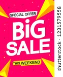 big sale  poster design... | Shutterstock .eps vector #1231579558