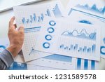 businessman working data... | Shutterstock . vector #1231589578