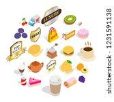 yummy ice cream icons set.... | Shutterstock .eps vector #1231591138