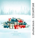 christmas holiday background... | Shutterstock .eps vector #1231609168