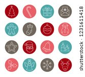 collection of christmas and... | Shutterstock .eps vector #1231611418