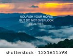 inspirational life quotes  ... | Shutterstock . vector #1231611598