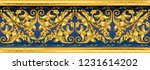 seamless golden ornamental... | Shutterstock .eps vector #1231614202