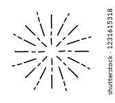 vintage sunburst explosion.... | Shutterstock .eps vector #1231615318