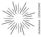 vintage sunburst explosion.... | Shutterstock .eps vector #1231615345