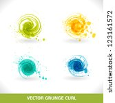 Grunge Curl. Vector Abstract...