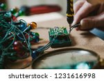 preparing for the new year.... | Shutterstock . vector #1231616998
