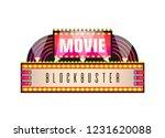 movie and cinema retro... | Shutterstock .eps vector #1231620088