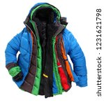 colorful winterjackets one... | Shutterstock . vector #1231621798