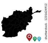 map of afghanistan   high... | Shutterstock .eps vector #1231624912