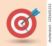 target and goal setting vector...   Shutterstock .eps vector #1231631212