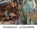 texture worn paint  texture of... | Shutterstock . vector #1231640008