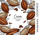 cocoa frame. vector superfood... | Shutterstock .eps vector #1231654015