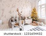 light living room with...   Shutterstock . vector #1231654432