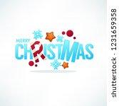 merry christmas greeting...   Shutterstock .eps vector #1231659358