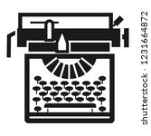 typewriter classic icon. simple ... | Shutterstock .eps vector #1231664872