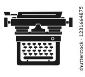 retro typewriter icon. simple... | Shutterstock .eps vector #1231664875