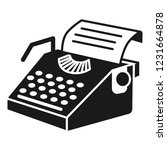 paper typewriter icon. simple... | Shutterstock .eps vector #1231664878