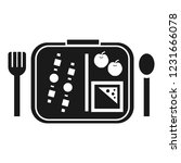 time to lunch icon. simple... | Shutterstock .eps vector #1231666078