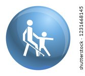 kid guide blind man icon.... | Shutterstock .eps vector #1231668145