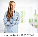 beautiful businesswoman portrait | Shutterstock . vector #123167062