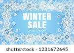 winter final sale concept... | Shutterstock .eps vector #1231672645