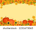 autumn. leaves and pumpkins | Shutterstock . vector #1231673065