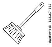 broom brush icon. outline broom ... | Shutterstock .eps vector #1231674532