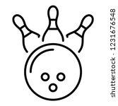 bowling kingpin strike icon.... | Shutterstock .eps vector #1231676548