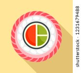 mix sushi icon. flat... | Shutterstock .eps vector #1231679488