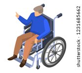 invalid man in wheelchair icon. ... | Shutterstock .eps vector #1231685662