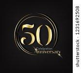50 anniversary template design...   Shutterstock .eps vector #1231692508