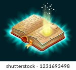 isometric book of magic spells... | Shutterstock .eps vector #1231693498