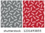 abstract christmas tree twigs... | Shutterstock .eps vector #1231693855