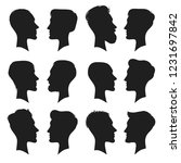 adult male head profile... | Shutterstock . vector #1231697842