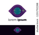 logo design. earth and moon... | Shutterstock .eps vector #1231702288