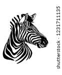 Graphical Portrait Of Zebra...