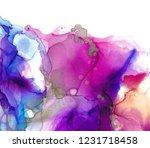 alcohol ink texture. fluid ink... | Shutterstock . vector #1231718458