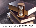 hourglass as time passing...   Shutterstock . vector #1231731838