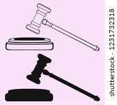 judge's gavel  striking block... | Shutterstock .eps vector #1231732318