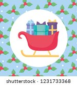 christmas sleight icon  | Shutterstock .eps vector #1231733368